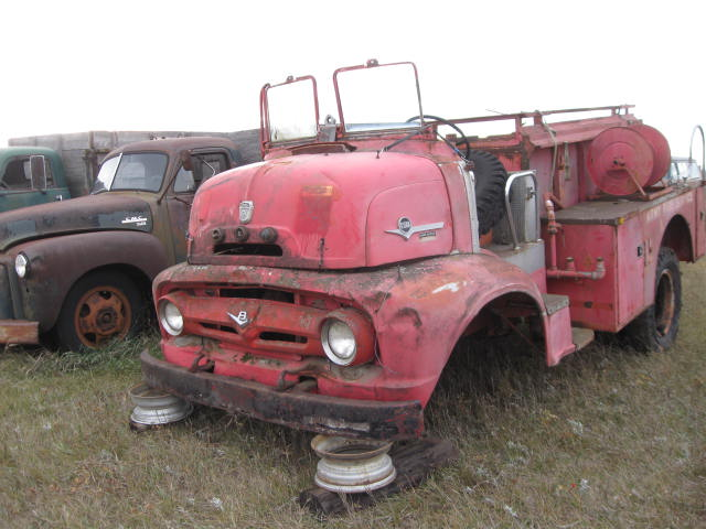 1956 Ford Fire Truck : Ford c awd fire truck ref